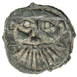 HUNNIC: Sri Shahi, probably 6th century, AE unit (0.55g). EF