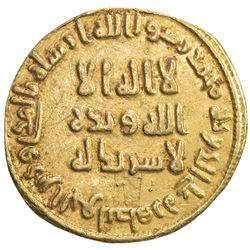 UMAYYAD: 'Abd al-Malik, 685-705, AV dinar (4.15g), NM (Dimashq), AH79. VF