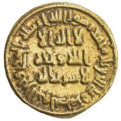 UMAYYAD: 'Abd al-Malik, 685-705, AV dinar (4.21g), NM (Dimashq), AH80. VF