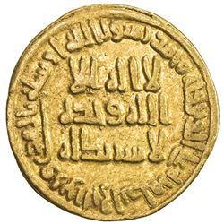 UMAYYAD: al-Walid I, 705-715, AV dinar (4.19g), NM (Dimashq), AH87. VF