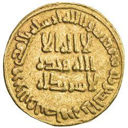 UMAYYAD: al-Walid I, 705-715, AV dinar (4.21g), NM (Dimashq), AH90. VF