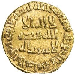 UMAYYAD: al-Walid I, 705-715, AV dinar (4.29g), NM (Dimashq), AH92. VF