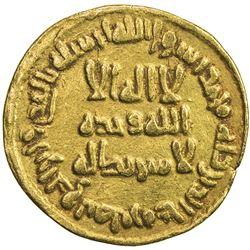 UMAYYAD: Sulayman, 715-717, AV dinar (4.21g), NM (Dimashq), AH97. VF