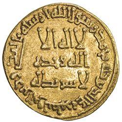 UMAYYAD: Hisham, 724-743, AV dinar (4.05g), NM (Dimashq), AH108. VF