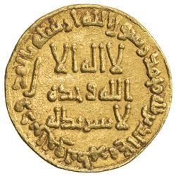 UMAYYAD: Hisham, 724-743, AV dinar (4.21g), NM (Dimashq), AH114. VF-EF