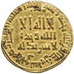 ABBASID: al-Mahdi, 775-785, AV dinar (4.13g), NM, AH168. VF