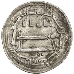 ABBASID: al-Mahdi, 775-785, AR dirham (2.96g), al-Yamama, AH168. VF
