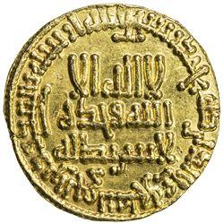 ABBASID: al-Rashid, 786-809, AV dinar (4.24g), NM (Madinat al-Salam), AH185. EF