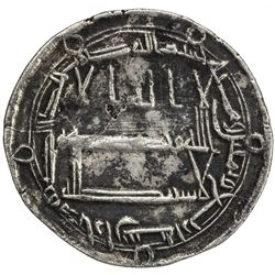 ABBASID: al-Rashid, 786-809, AR dirham (2.84g), Arran, AH184. VF