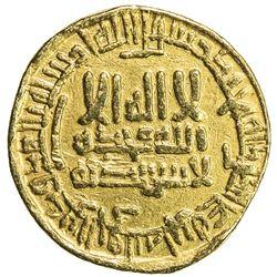 ABBASID: al-Ma'mun, 810-833, AV dinar (4.25g), NM, AH203. VF