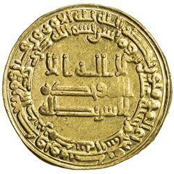 ABBASID: al Mu'tasim, 833-842, AV dinar (4.19g), Madinat al-Salam, AH220. AU