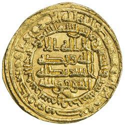 ABBASID: al-Mu'tamid, 870-892, AV dinar (4.37g), Samarqand, AH276. EF