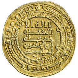 ABBASID: al-Qahir, 932-934, AV dinar (3.64g), al-Ahwaz, AH321. VF-EF