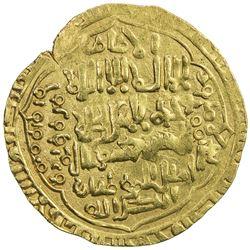 ABBASID: al-Musta'sim, 1242-1258, AV dinar (8.07g), Madinat al-Salam, DM. VF
