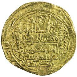 ABBASID: al-Musta'sim, 1242-1258, AV dinar (6.52g), Madinat al-Salam, AH65x. F-VF
