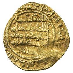 ABBADID OF SEVILLE: al-Mu'tadid 'Abbad, 1042-1069, AV fractional dinar (1.15g), al-Andalus, ND. VF