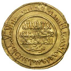 ALMORAVID: Abu Bakr, 1056-1087, AV dinar (4.20g), Sijilmasa, AH454. EF