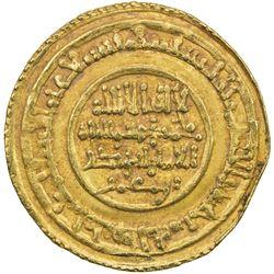 ALMORAVID: Abu Bakr, 1056-1087, AV dinar (4.13g), Sijilmasa, AH473. EF
