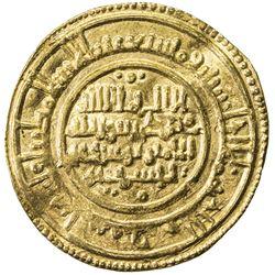ALMORAVID: Yusuf, 1087-1106, AV dinar (4.09g), Sijilmasa, AH486. EF