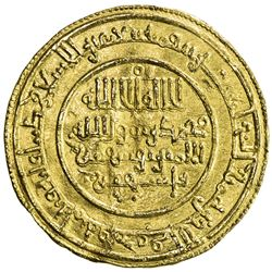 ALMORAVID: Yusuf, 1087-1106, AV dinar (4.12g), Aghmat, AH494. VF-EF