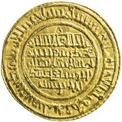 ALMORAVID: 'Ali, 1106-1142, AV dinar (4.20g), al-Mariya (Almeria), AH533. EF