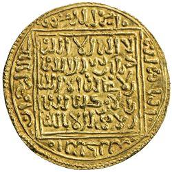 ZIYANID: Abu Tashufin 'Abd al-Rahman I, 1318-1337, AV dinar (4.54g), Tilimsan (Tlemcen), ND. EF-AU