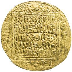 """ZIYANID: Imitation, ca. 14th/15th century, AV dinar (4.58g), """"Tilimsan"""", ND. EF"""