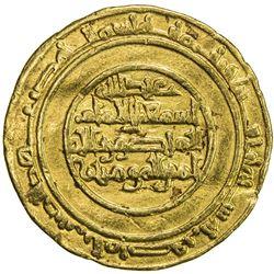 FATIMID: al-Mansur, 946-953, AV dinar (4.13g), al-Mansuriya, AH340. VF