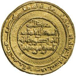 FATIMID: al-Mansur, 946-953, AV dinar (4.18g), al-Mansuriya, AH341. EF