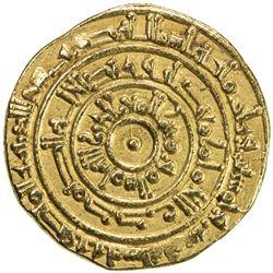FATIMID: al-Mu'izz, 953-975, AV dinar (4.17g), al-Mansuriya, AH355. EF