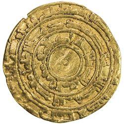 FATIMID: al-Mu'izz, 953-975, AV dinar (3.96g), al-Mansuriya, AH344. F