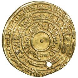 FATIMID: al-Mu'izz, 953-975, AV dinar (3.69g), Filastin, AH359. VF