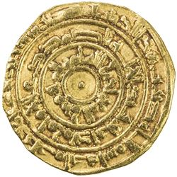 FATIMID: al-Mu'izz, 953-975, AV dinar (4.09g), Misr, AH363. VF