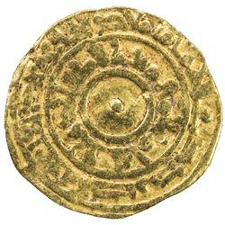 FATIMID: al-Mu'izz, 953-975, AV 1/4 dinar (1.02g), al-Mansuriya, AH361. F