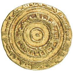 FATIMID: al-'Aziz, 975-996, AV dinar (4.11g), al-Mahdiya, AH367. VF