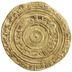 FATIMID: al-'Aziz, 975-996, AV dinar (3.98g), al-Mahdiya, AH375. F