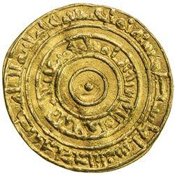 FATIMID: al-'Aziz, 975-996, AV dinar (4.18g), Filastin, AH378. VF