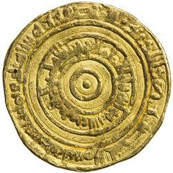 FATIMID: al-'Aziz, 975-996, AV dinar (4.13g), al-Mansuriya, AH383. VF