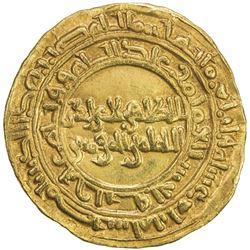 FATIMID: al-Zahir, 1021-1036, AV dinar (4.20g), Misr, AH414. VF-EF