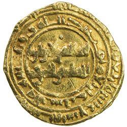 FATIMID: al-Zahir, 1021-1036, AV 1/4 dinar (0.96g), Siqilliya, AH419. VF