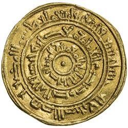FATIMID: al-Mustansir, 1036-1094, AV dinar (3.54g), Halab, AH446. EF