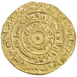 FATIMID: al-Mustansir, 1036-1094, AV dinar (3.41g), Sur, AH446. VF
