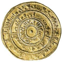 FATIMID: al-Mustansir, 1036-1094, AV dinar (3.84g), Sur, AH450. F-VF