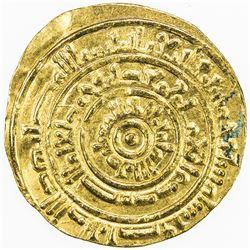 FATIMID: al-Mustansir, 1036-1094, AV dinar (2.88g), Sur, AH454. EF