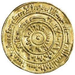 FATIMID: al-Mustansir, 1036-1094, AV dinar (3.43g), al-Iskandariya, AH465. VF