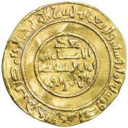 FATIMID: al-Mustansir, 1036-1094, AV dinar (3.44g), Sur, AH468. VF