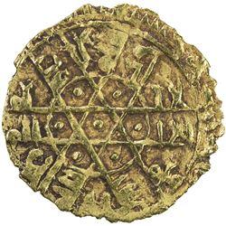 FATIMID: al-Mustansir, 1036-1094, AV 1/4 dinar (0.92g), (Siqilliya), ND. VF-EF