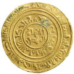 FATIMID: al-Amir al-Mansur, 1101-1130, AV dinar (3.78g), Sur, AH495. VF-EF