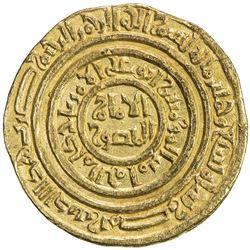 FATIMID: al-Amir al-Mansur, 1101-1130, AV dinar (3.98g), Misr, AH509. EF