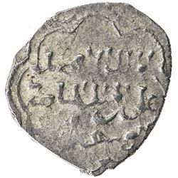 AYYUBID: al-Afdal 'Ali, 1193-1196, AR 1/2 dirham (1.46g), MM, DM. VF